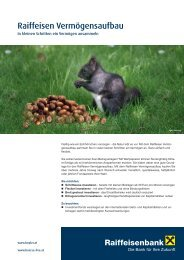 Produktblatt Vermögensaufbau (pdf) - Raiffeisen