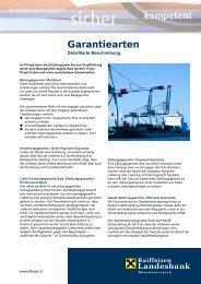 Detaillierte Beschreibung der Garantiearten (pdf, 140 kB) - Raiffeisen