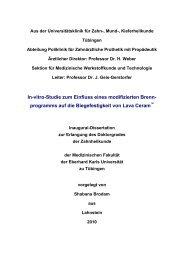 In-vitro-Studie zum Einfluss eines modifizierten Brenn ... - TOBIAS-lib