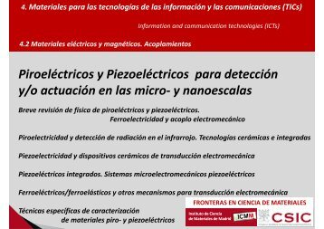 FRONTERAS EN CIENCIA DE MATERIALES - Instituto de Ciencia ...