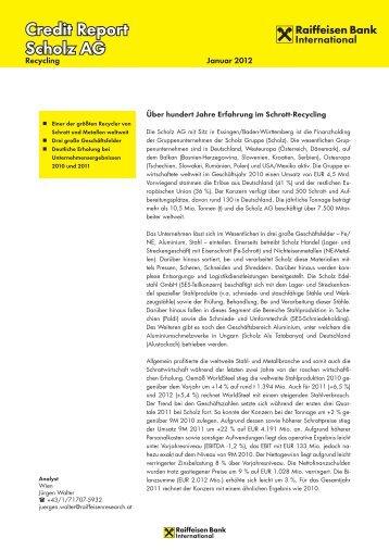 Credit Report Scholz AG - Raiffeisen
