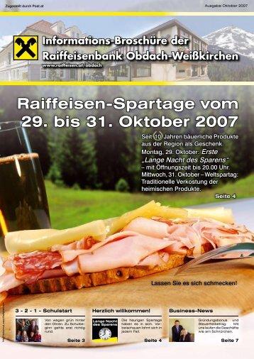 Ausgabe Oktober 2007 - Raiffeisen