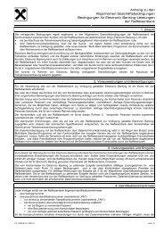 Bedingungen für Electronic Banking-Leistungen - Raiffeisen