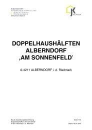 BAUBESCHREIBUNG- Am Sonnenfeld - Raiffeisen