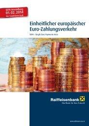 Folder - Einheitlicher europäischer Euro ... - Raiffeisen