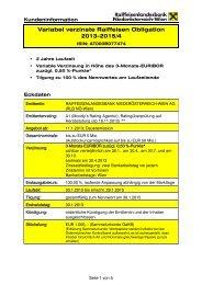 Kundeninformationsblatt - Raiffeisenlandesbank Niederösterreich ...