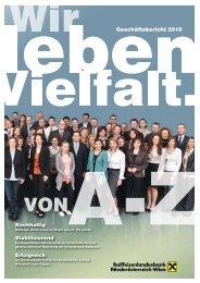 Geschäftsbericht 2010 - Raiffeisenlandesbank Niederösterreich-Wien