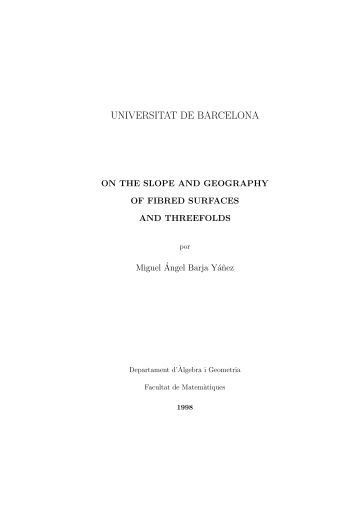 UNIVERSITAT DE BARCELONA - Tesis