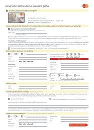 Antrag für Ihre Raiffeisen PrePaid MasterCard® go4free