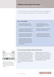 il Raiffeisen Futura Swiss Franc Bond investe in obbligazioni in ...