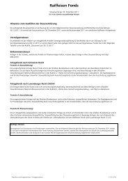 Steuerwerte 2011 der Raiffeisen Fonds
