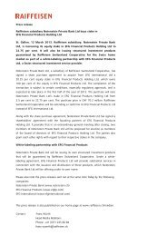 Press release Raiffeisen subsidiary Notenstein Private Bank Ltd ...