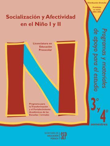 Socialización y Afectividad en el Niño II - Escuela Normal del Estado
