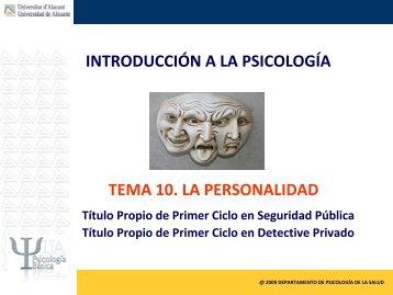 Tema 10. Personalidad..pdf - RUA