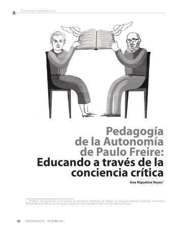 Pedagogía de la Autonomía de Paulo Freire ... - Revista Docencia