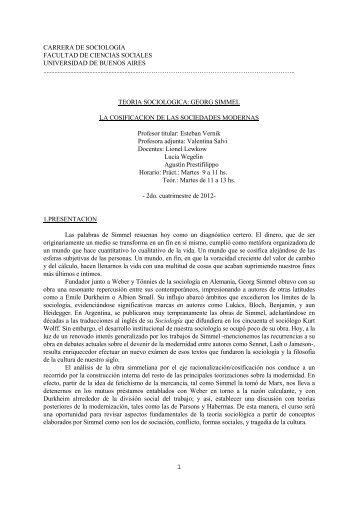 Georg Simmel: La cosificación de las sociedades modernas - Vernik
