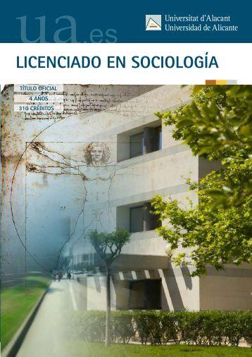 LICENCIADO EN SOCIOLOGÍA - Universidad de Alicante