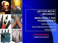Sector Metal Mecánica: Mercados y Posibilidades