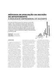 Métodos de Avaliação da Decisão de Investimento - dos algarves