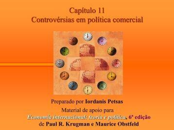 Controvérsias em Política Comercial - Instituto de Economia da UFRJ