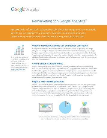 Remarketing con Google Analytics™