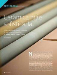 Cerâmica mais sofisticada - Revista Pesquisa FAPESP