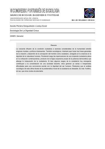 Sociologia De La Dignidad Civica