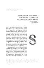 Fragmentos de la metrópoli. Una mirada sociológica a - Revista ...