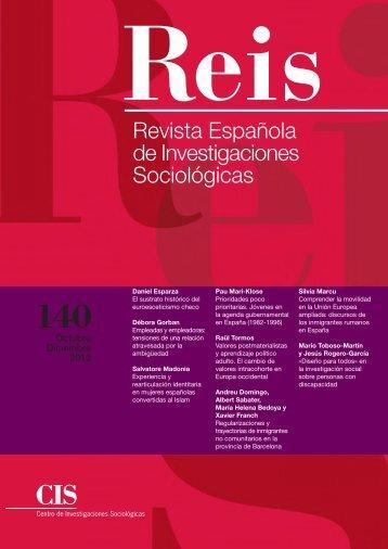 REIS: REVISTA ESPAÑOLA DE INVESTIGACIONES SOCIOLÓGICAS
