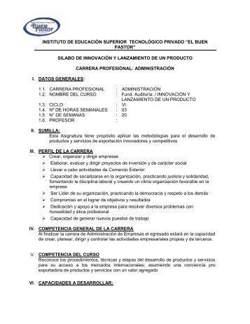 INSTITUTO DE EDUCACIÓN SUPERIOR ... - IST Buen Pastor