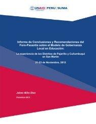 Informe de Conclusiones y Recomendaciones del Foro-Pasantía ...