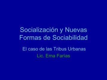 Socialización y Nuevas Formas de Sociabilidad