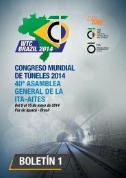 bOLETíN 1 - World Tunnel Congress 2014