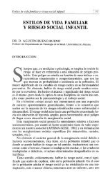 ESTILOS DE VIDA FAMILIAR Y RIESGO SOCIAL INFANTIL - RUA ...