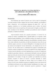 VIOLENCIA, DELITO, CULTURA POLÍTICA, SOCIABILIDAD ... - Flacso