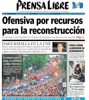 DARÁ BATALLA EN LA UNE - Prensa Libre