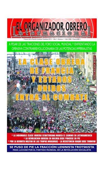 Organizador Obrero Internacional Nº1 Abril 2006 (PDF)