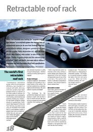Retractable roof rack - Plastics, Polymers, and Resins - DuPont