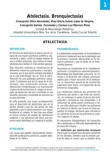 1. Atelectasia. Bronquiectasias - Asociación Española de Pediatría