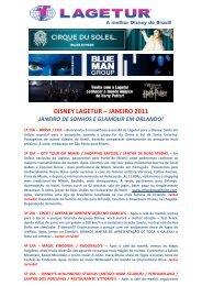 DISNEY LAGETUR – JANEIRO 2011
