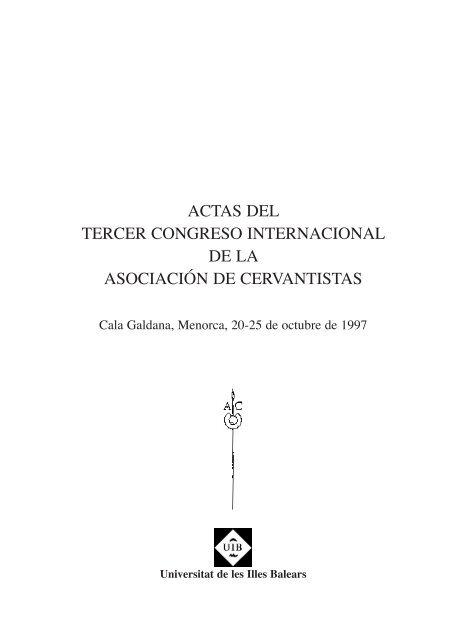 Actas Asociación Cervantistas Menorca Portal Del Hispanismo