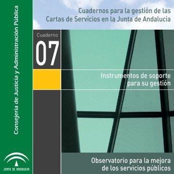 Cuadernos para la gestión de las Cartas de Servicios en la Junta de ...