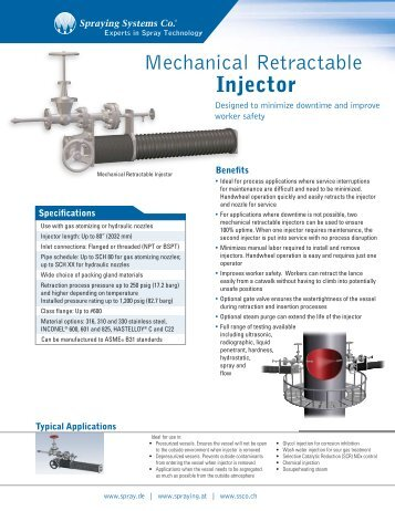 Mechanical Retractable Injector - Spraying Systems Deutschland ...