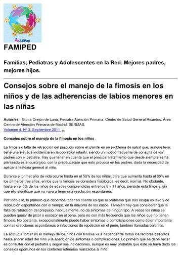FAMIPED Consejos sobre el manejo de la fimosis en los niños y de ...