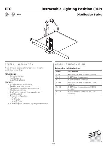 retractable lighting. retractable lighting position rlp etc h