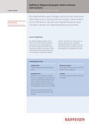Raiffeisen Magnet Zinspapier Aktien Schweiz CHF 02/2016 Als ...