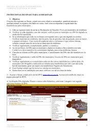 Instrucional do SINASC WEB para as Regionais de Saúde