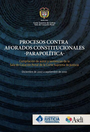 Parapolítica - Corte Suprema de Justicia