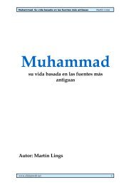 Muhammad, Su vida basada en las fuentes más antiguas