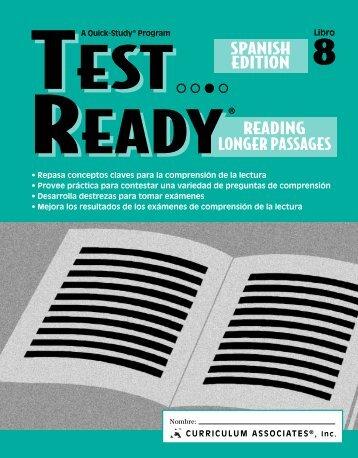TEST READY® Reading Longer Passages - Curriculum Associates